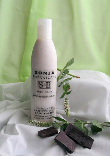 Sonja Botanicals Skin Care Chocolate & Coffee Mint Body Polish